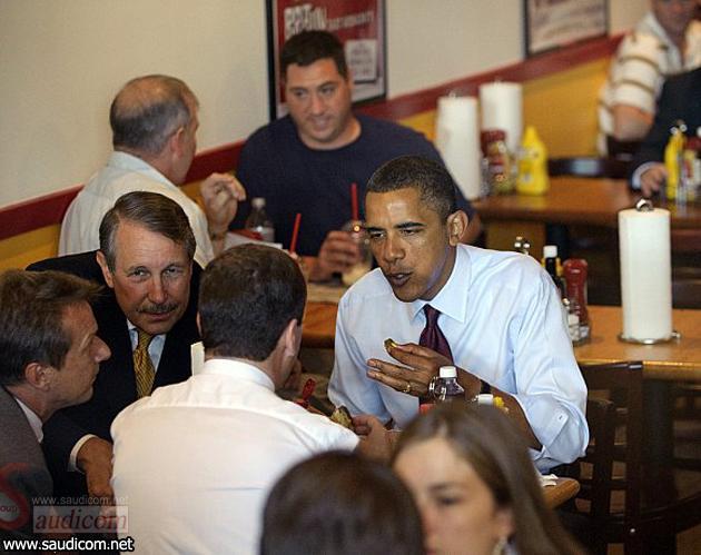 اوباما و مدوتف تف